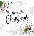 merry christmas card congratulations lettering vector image