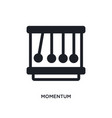 momentum isolated icon simple element from vector image vector image