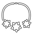 necklace star icon outline style vector image