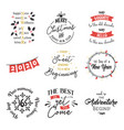 new year insparation greeting phrases calligraphy vector image vector image
