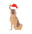 newyear happy dog icon christmas cartoon vector image vector image