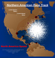 northern america hurricane vector image