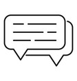 online chat icon outline style vector image vector image