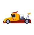 orange racing turbo truck fast heavy vehicle flat vector image vector image
