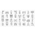 outdoor advertising icons set outline style