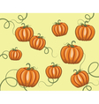Pumpkins pattern background vector image vector image