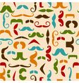 seamless pattern with color mustache vector image vector image