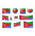 set eritrea flags banners banners symbols vector image vector image