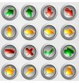 set of brushed steel buttons vector image vector image