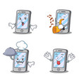 set of iphone character shock chef tongue out vector image vector image