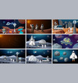 set space backgrounds vector image vector image