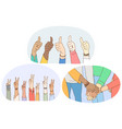 sign and gesture language hands emotion vector image