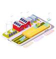 smart farm in smartphone isometric
