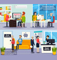 social security orthogonal banners vector image vector image