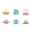 summer holidays typography inspirational quotes vector image vector image