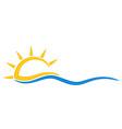 symbol sun and sea vector image vector image