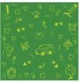 Theme school doodle art vector image