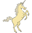 unicorn rear hoof vector image vector image
