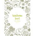 vegetarian food vegetable hand drawn vintage vector image vector image