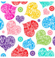 vivid colorful seamless valentine pattern on vector image vector image