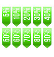 sale ribbons with different discount vector image