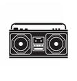 Retro Tape Recorder vector image