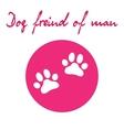 Dog paw icon of dog vector image