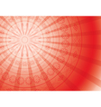 red background with round ornament and rays vector image