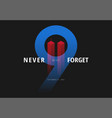 911 for patriot day usa never forget september 11 vector image vector image
