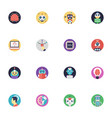 a pack of artificial intelligence flat icon vector image