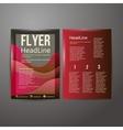 Abstract Brochure Flyer design vector image