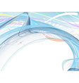 abstract wave lines vector image