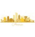 amman jordan skyline silhouette with golden vector image vector image