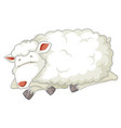 an isolated sheep sleeping vector image vector image