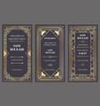 art deco art banner fancy party event invitation vector image vector image