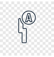 auto flash concept linear icon isolated on vector image