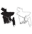 bangladesh country map black silhouette