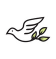 beauty dove bird logo vector image vector image