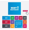 Best brother ever sign icon Award symbol vector image vector image