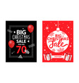 big christmas sale up to 70 percent off brochure vector image vector image