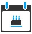 Birthday Cake Calendar Day Toolbar Icon vector image vector image