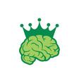 brain abstract king icon logo vector image vector image