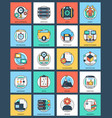 business and data management flat icons set vector image vector image