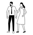 business man and woman characters vector image vector image