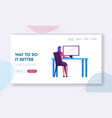 business strategy development website landing page vector image vector image