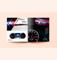 car and driver magazine template speedometer vector image