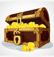 cartoon chest full of gold vector image vector image