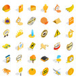 cheese icons set isometric style vector image vector image