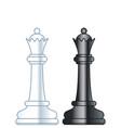 chess queens vector image vector image