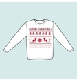 christmas winter warm sweater flat icon mockup vector image vector image